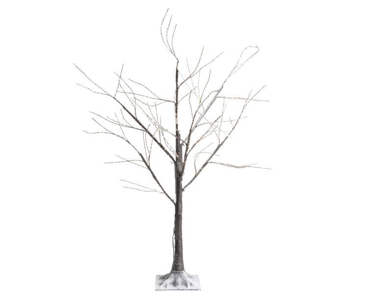 Дерево коричневое со снегом и LED огнями, 150 см