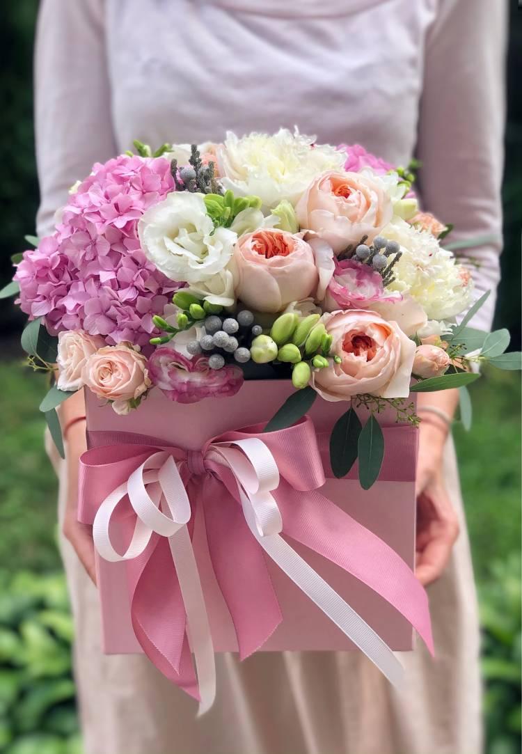 "Цветы  в коробке ""Жасмин"""