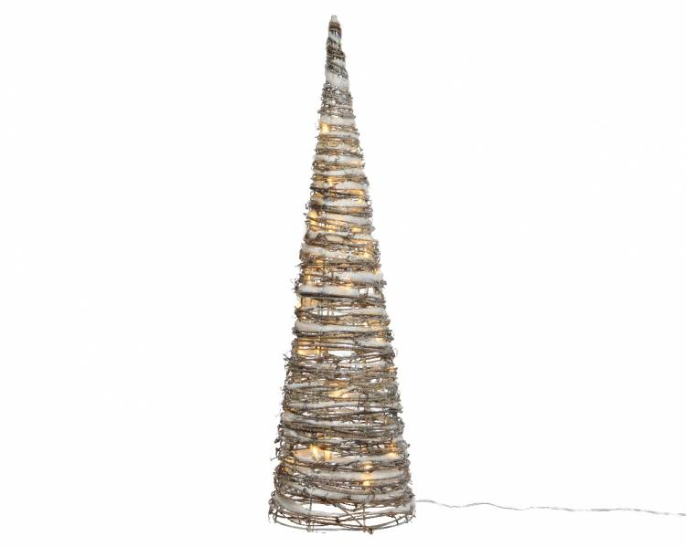Светодиодная снежная пирамида 28x28x120cm-72L