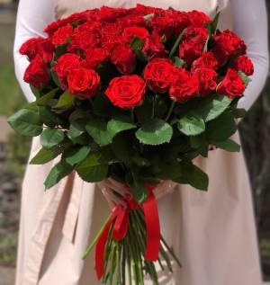Букет 51 красная роза Эль Торо - заказ и доставка цветов Киев