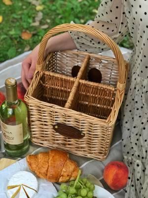 Корзина для вина на 4 бутылки - заказ и доставка цветов Киев