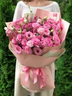 Букет 21 розовая эустома - заказ и доставка цветов Киев