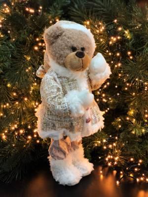 Декор Мишка в платье кремовый - заказ и доставка цветов Киев