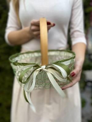 Корзина для яиц зеленая, 18.5 см - заказ и доставка цветов Киев