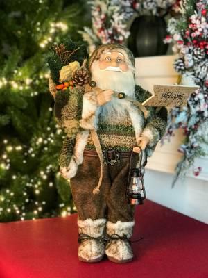 Санта в коричневой шубе, 30 см - заказ и доставка цветов Киев