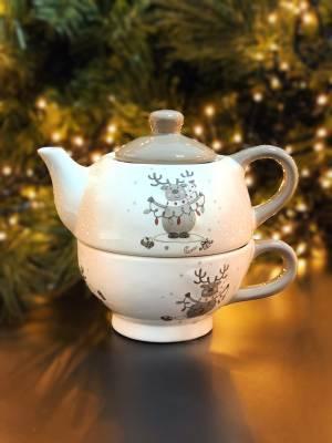 Чайный набор на одного из 2  шт с Оленем белый ... - заказ и доставка цветов Киев