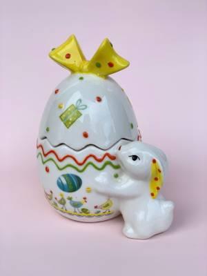 Великодній Кролик у яйці  11X13X7 CM - заказ и доставка цветов Киев