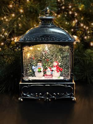 Снежный шар Лампа античный коричневый LED-18x9x31 - заказ и доставка цветов Киев