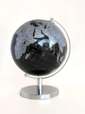 Глобус черный/серебро, 28 см - заказ и доставка цветов Киев