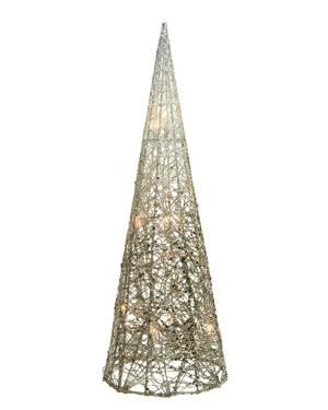 Светодиодный конус бело-золотой провод 18x18x60... - заказ и доставка цветов Киев