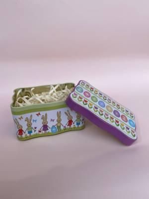 Коробка метал Веселый кролик - заказ и доставка цветов Киев