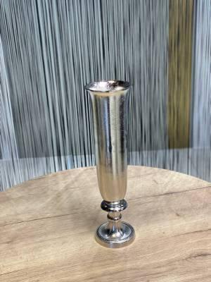 Ваза металлическая серебро - заказ и доставка цветов Киев