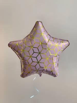 Шар-звезда Геометрия розовый/золото - заказ и доставка цветов Киев