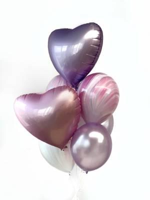 Букет шаров Розово-лиловый - заказ и доставка цветов Киев