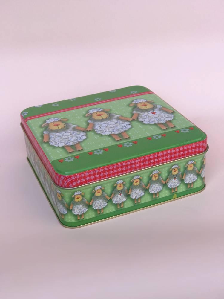 Коробка метал Три овечки